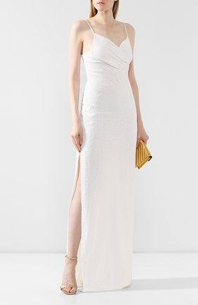 Женское платье-макси BALMAIN белого цвета, арт. SF26891/X160   Фото 2