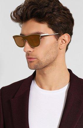Мужские солнцезащитные очки DOLCE & GABBANA золотого цвета, арт. 2174-02/F9 | Фото 2