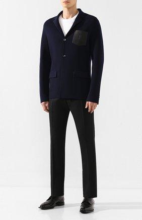 Мужской пиджак из смеси шерсти и кашемира BERLUTI темно-синего цвета, арт. R16KJL32-001   Фото 2