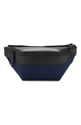 Мужская комбинированная поясная сумка BERLUTI синего цвета, арт. M190091 | Фото 1