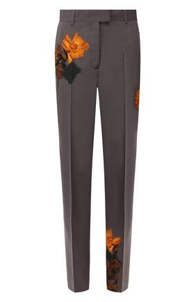 Женские шерстяные брюки DRIES VAN NOTEN серого цвета, арт. 192-10933-8428 | Фото 1