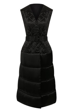 Женский жилет с поясом DRIES VAN NOTEN черного цвета, арт. 192-10286-8174 | Фото 1