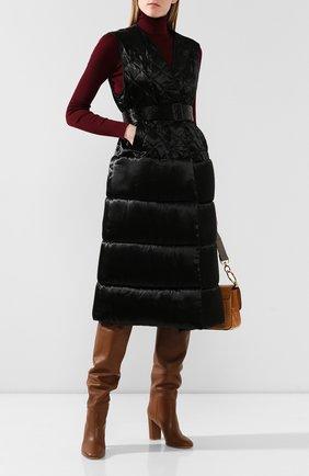 Женский жилет с поясом DRIES VAN NOTEN черного цвета, арт. 192-10286-8174 | Фото 2