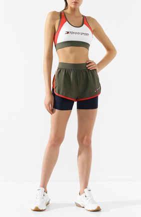 Женские шорты TOMMY SPORT зеленого цвета, арт. S10S100262   Фото 2
