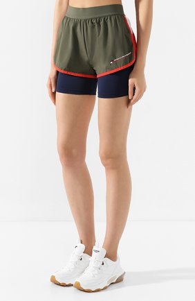 Женские шорты TOMMY SPORT зеленого цвета, арт. S10S100262   Фото 3
