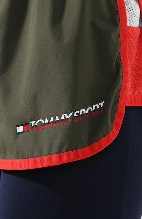 Женские шорты TOMMY SPORT зеленого цвета, арт. S10S100262   Фото 5