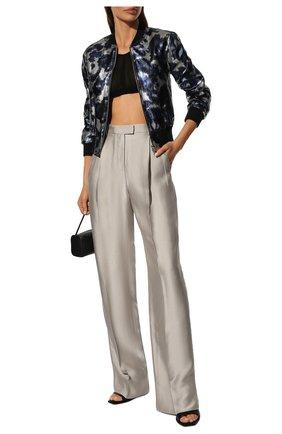 Женские брюки из вискозы GIORGIO ARMANI бежевого цвета, арт. 9WHPP08T/T019J   Фото 2