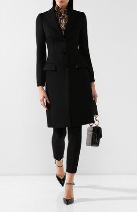 Женское пальто из смеси шерсти и кашемира DOLCE & GABBANA черного цвета, арт. F0Q41T/FU30E | Фото 2