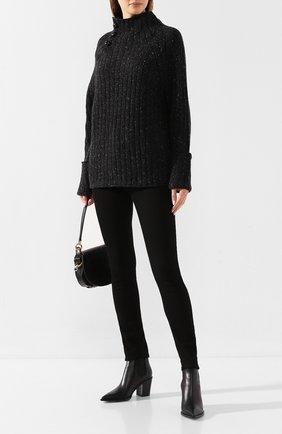 Женский свитер из смеси шерсти и вискозы RAG&BONE темно-серого цвета, арт. WAS19FS011XP11 | Фото 2