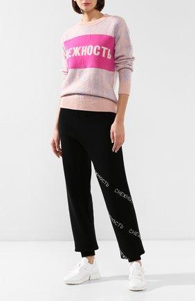 Женский пуловер из смеси шерсти и кашемира NERVURE розового цвета, арт. 4403 TSUM   Фото 2