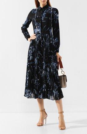 Женское платье с принтом SARA ROKA темно-синего цвета, арт. T0SCA90 33/FW19-38 | Фото 2