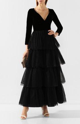 Женское платье-макси SARA ROKA черного цвета, арт. SEDDY 42/FW19-47 | Фото 2