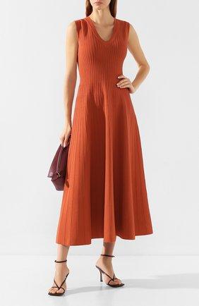Женское платье-миди CASASOLA оранжевого цвета, арт. DRS11C8 | Фото 2