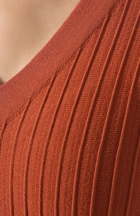 Женское платье-миди CASASOLA оранжевого цвета, арт. DRS11C8   Фото 5 (Случай: Повседневный; Материал внешний: Синтетический материал, Вискоза, Полиэстер; Длина Ж (юбки, платья, шорты): Миди; Рукава: Без рукавов; Статус проверки: Проверено, Проверена категория)