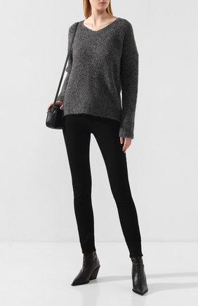 Женский шерстяной свитер TELA серого цвета, арт. B2 2340 07 T108 | Фото 2