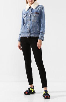 Женская джинсовая куртка DOLCE & GABBANA голубого цвета, арт. F9F39D/G8BF2 | Фото 2