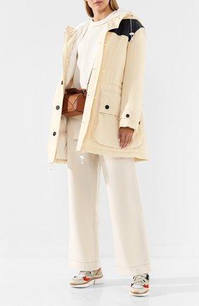 Женский пуховая куртка MARNI бежевого цвета, арт. PIMA0015NU/TCW28 | Фото 2