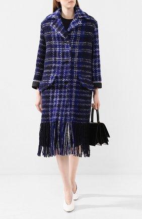 Женское шерстяное пальто MARNI синего цвета, арт. CPMAU13U02/TW761 | Фото 2