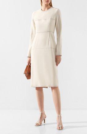 Женское шерстяное платье MARNI белого цвета, арт. ABMA0341U0/TW867 | Фото 2
