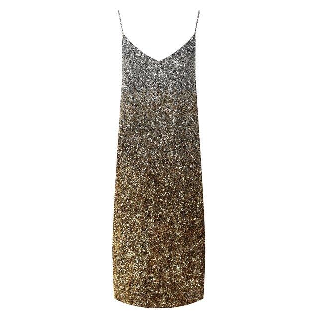 Платье с пайетками Dries Van Noten