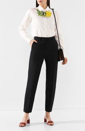Женские шерстяные брюки DRIES VAN NOTEN темно-синего цвета, арт. 192-10933-8182 | Фото 2