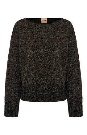 Женский пуловер NUDE черного цвета, арт. 1101057/B0ATNECK SWEATER | Фото 1