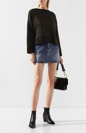 Женский пуловер NUDE черного цвета, арт. 1101057/B0ATNECK SWEATER | Фото 2