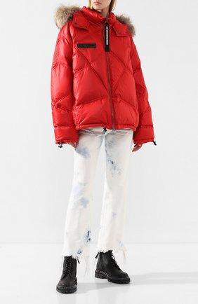 Женский пуховая куртка AS65 красного цвета, арт. Y30547/PIU | Фото 2