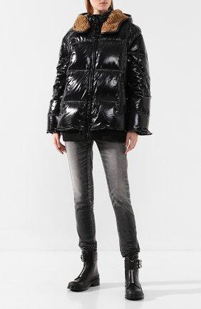 Женский пуховая куртка AS65 черного цвета, арт. Y30018B/LE0 | Фото 2