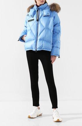 Женский пуховая куртка AS65 голубого цвета, арт. W30547/PIU | Фото 2