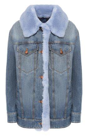 Джинсовая куртка с меховой подкладкой | Фото №1