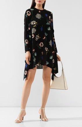 Женское шелковое платье REDVALENTINO черно-белого цвета, арт. SR0VAH85/4HV | Фото 2