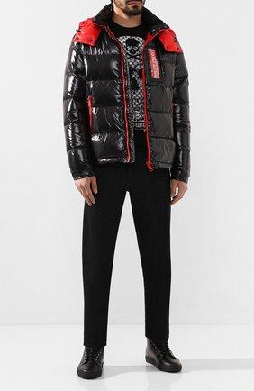 Мужские кожаные кеды PHILIPP PLEIN черного цвета, арт. MSC2534 | Фото 2