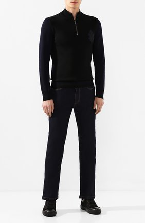 Мужские джинсы BILLIONAIRE темно-синего цвета, арт. MDT1714 | Фото 2