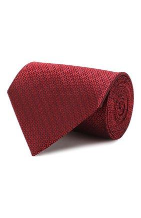 Мужской шелковый галстук ERMENEGILDO ZEGNA красного цвета, арт. Z6E04/1XW | Фото 1