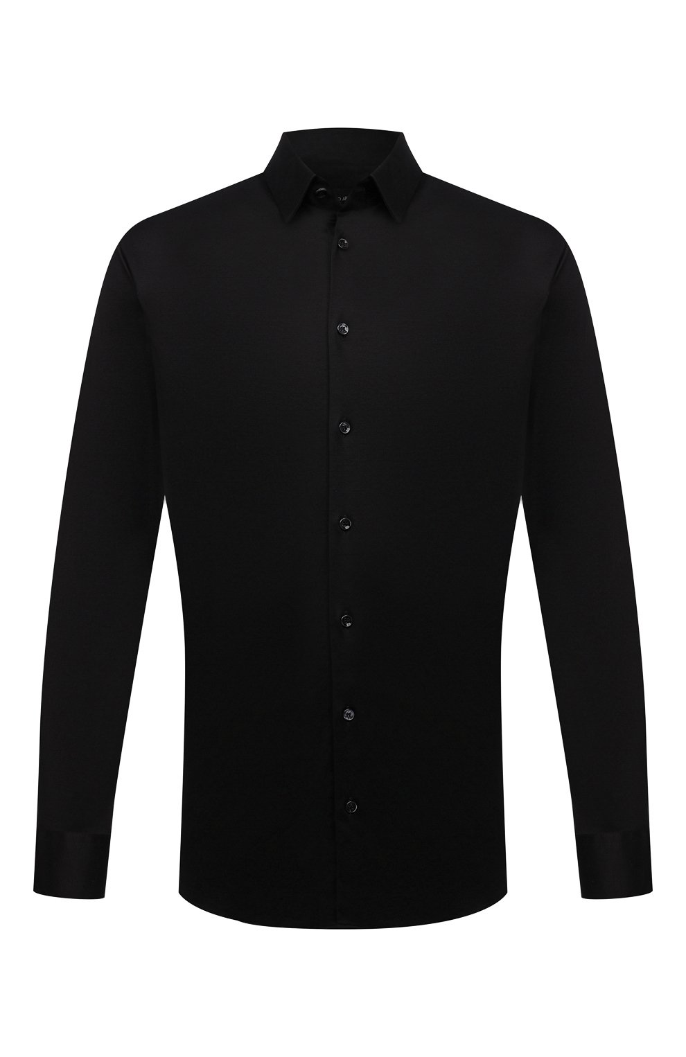 Мужская хлопковая сорочка GIORGIO ARMANI черного цвета, арт. 8WGCCZ97/JZ070 | Фото 1