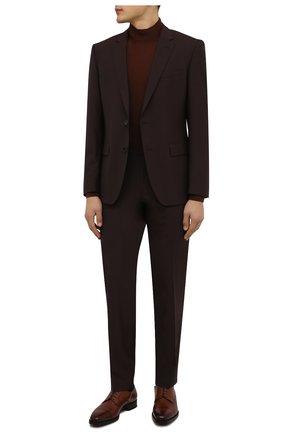 Мужской кожаные дерби TOM FORD светло-коричневого цвета, арт. J1005G-LCL024 | Фото 2
