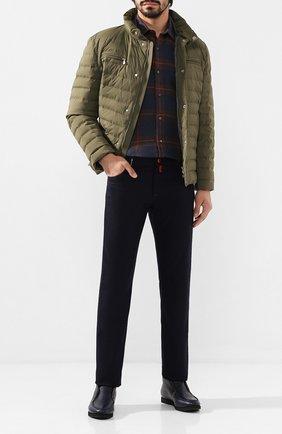 Мужские кожаные ботинки KITON темно-синего цвета, арт. USSFLYN00126/LINING M0NT0NE | Фото 2 (Мужское Кросс-КТ: Ботинки-обувь, зимние ботинки; Подошва: Плоская; Материал утеплителя: Овчина; Статус проверки: Проверено; Материал внутренний: Натуральная кожа)