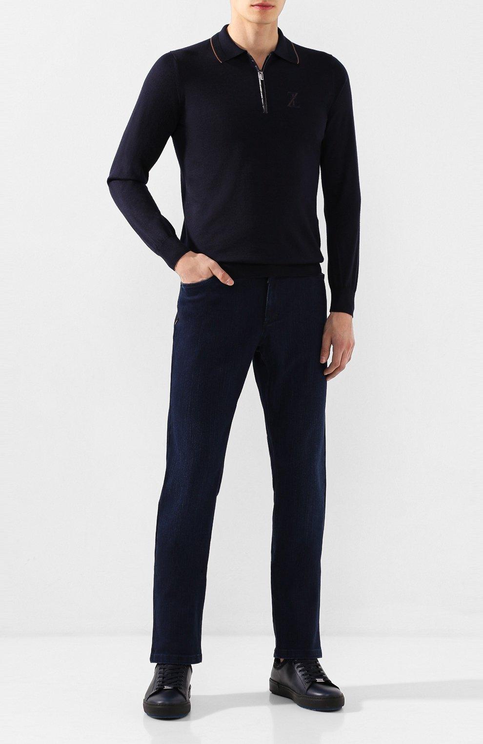 Мужские джинсы ZILLI темно-синего цвета, арт. MCS-00028-SSBC1/R001/AMIS | Фото 2