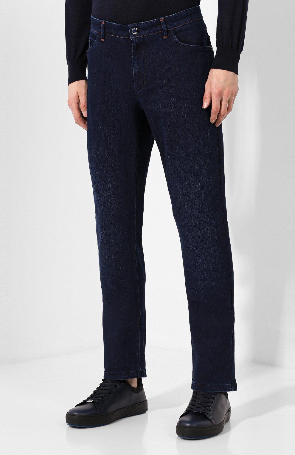 Мужские джинсы ZILLI темно-синего цвета, арт. MCS-00028-SSBC1/R001/AMIS | Фото 3