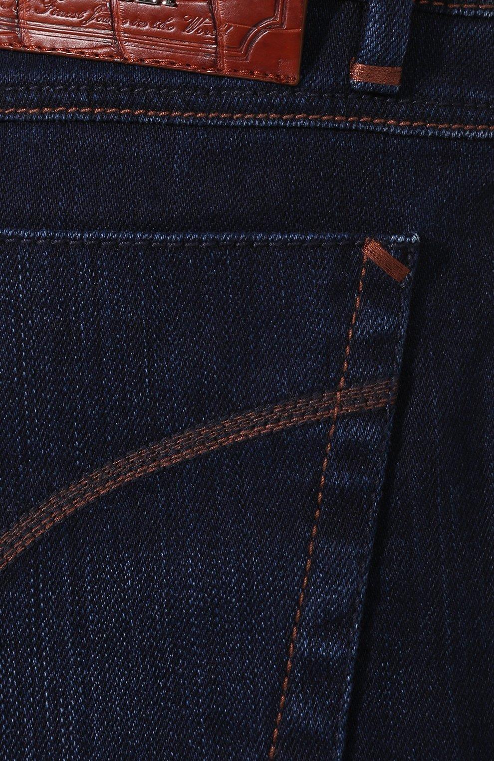 Мужские джинсы ZILLI темно-синего цвета, арт. MCS-00028-SSBC1/R001/AMIS | Фото 5