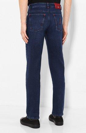 Мужские джинсы с отделкой из кожи аллигатора ZILLI темно-синего цвета, арт. MCS-00011-DEJC1/R001/AMIS | Фото 4