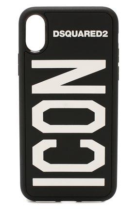 Мужской чехол для iphone x DSQUARED2 черного цвета, арт. ITM0051 35802197 | Фото 1