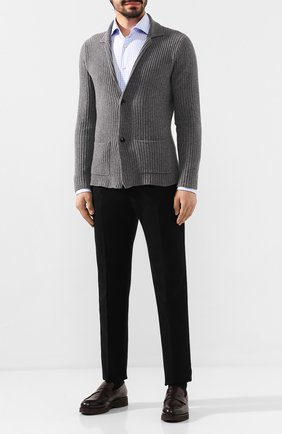 Мужские кожаные пенни-лоферы DOUCAL'S темно-коричневого цвета, арт. DU2483DAK0UM023TM06 | Фото 2