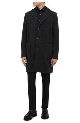 Мужской кожаные дерби DOUCAL'S черного цвета, арт. DU2482DAK0UM023NN00 | Фото 2