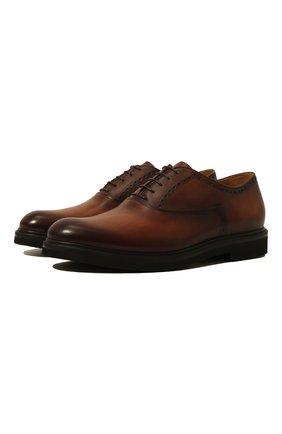 Мужские кожаные оксфорды BERLUTI коричневого цвета, арт. S4161-002 | Фото 1