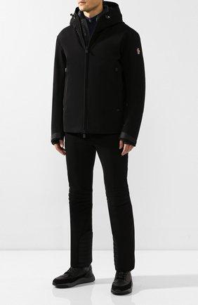Мужской утепленные брюки MONCLER черного цвета, арт. E2-097-11415-35-53063 | Фото 2