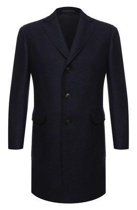 Мужской шерстяное пальто Z ZEGNA темно-синего цвета, арт. 689770/4DSVG0 | Фото 1