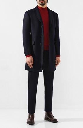 Мужской шерстяное пальто Z ZEGNA темно-синего цвета, арт. 689770/4DSVG0 | Фото 2