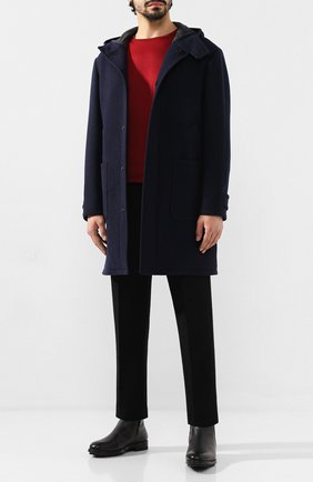 Мужской шерстяное пальто Z ZEGNA темно-синего цвета, арт. 689730/4DY4G0 | Фото 2